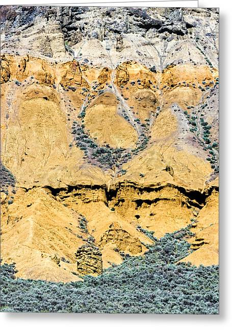 Patterns In The Rocks Greeting Card by Michael Russell