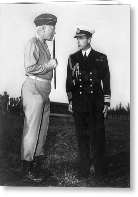 Patton & Mountbatten, 1943 Greeting Card