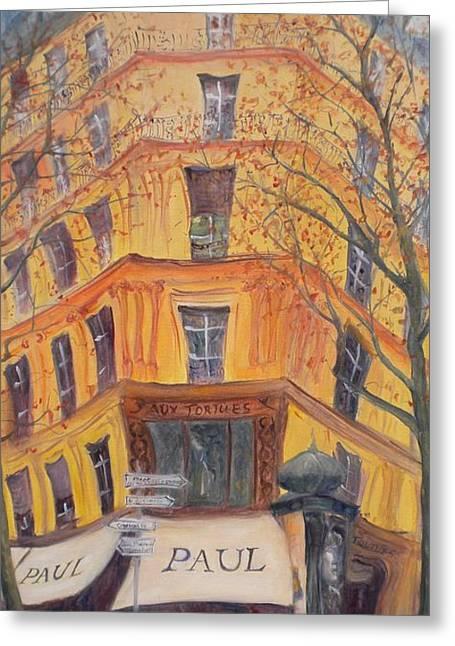 Paul, 2010 Oil On Canvas Greeting Card by Antonia Myatt