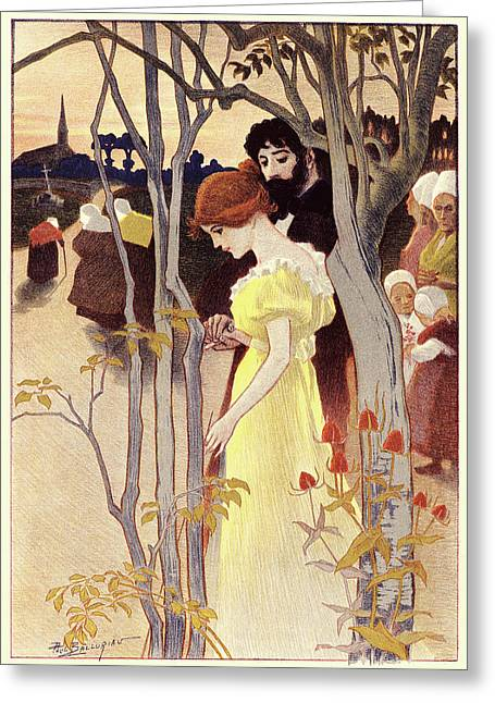 Paul Balluriau French, Active Early 20th Century. Dusk Greeting Card