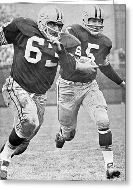 Paul Hornung Running Greeting Card