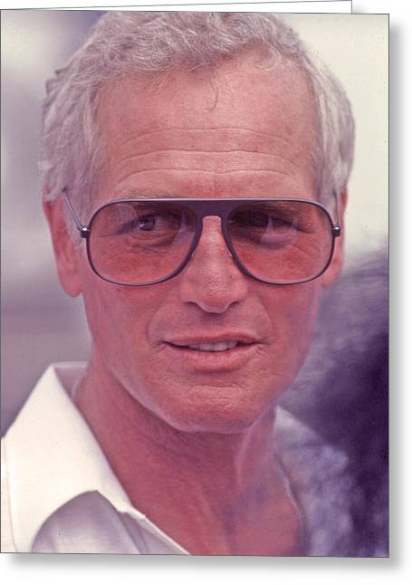 Paul Newman 1925 - 2008 Greeting Card by Mike Flynn