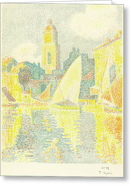 Paul Signac French, 1863 - 1935 Greeting Card by Quint Lox
