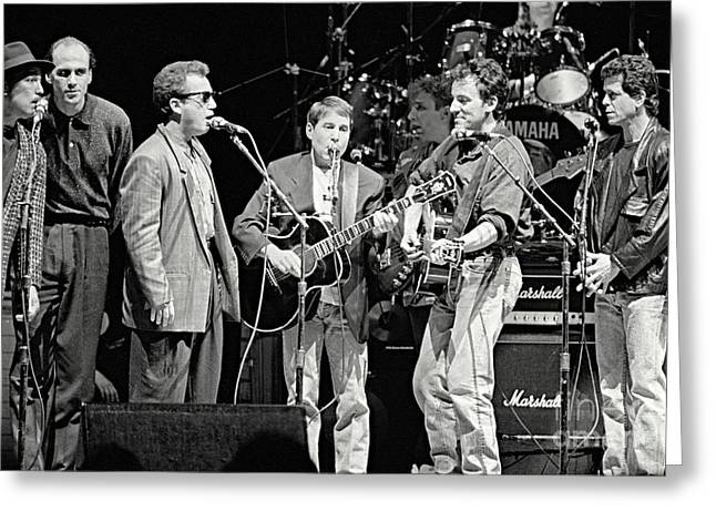 Paul Simon And Friends Greeting Card by Chuck Spang