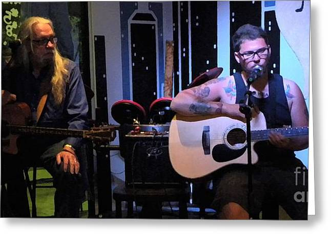 Paul Stephen Wilson And Jj Roetting Duet Greeting Card by Shawn Lyte
