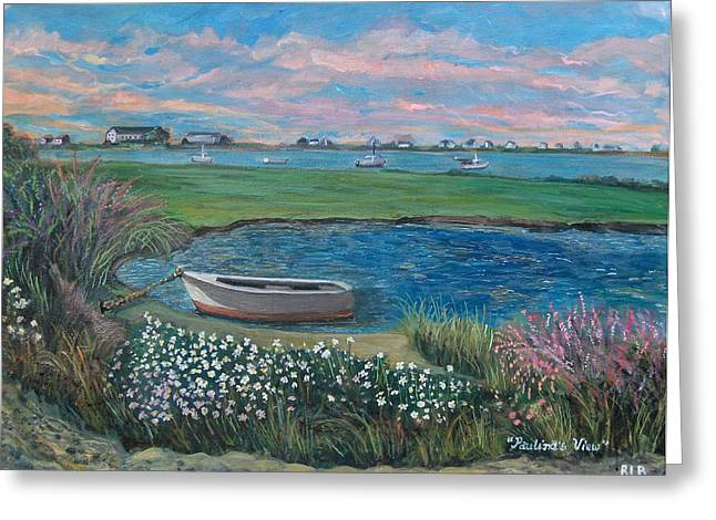Greeting Card featuring the painting Paulina's View by Rita Brown