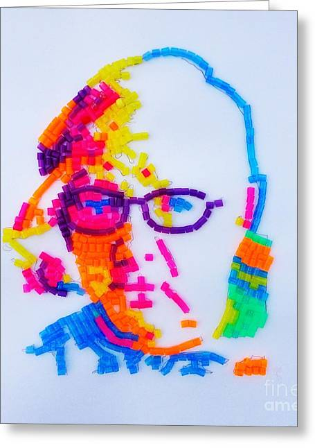 Greeting Card featuring the painting Paul's Portrait by PainterArtist FINs husband Maestro