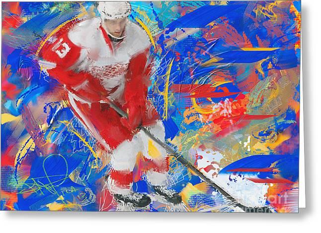 Pavel Datsyuk 4 Greeting Card by Donald Pavlica