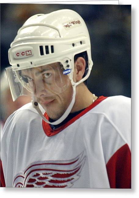 Greeting Card featuring the photograph Pavel Datsyuk by Don Olea