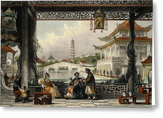 Pavilion And Gardens Of A Mandarin Greeting Card