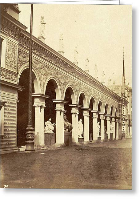 Pavilion At The World Expo In Paris, France In 1889 Greeting Card by Artokoloro