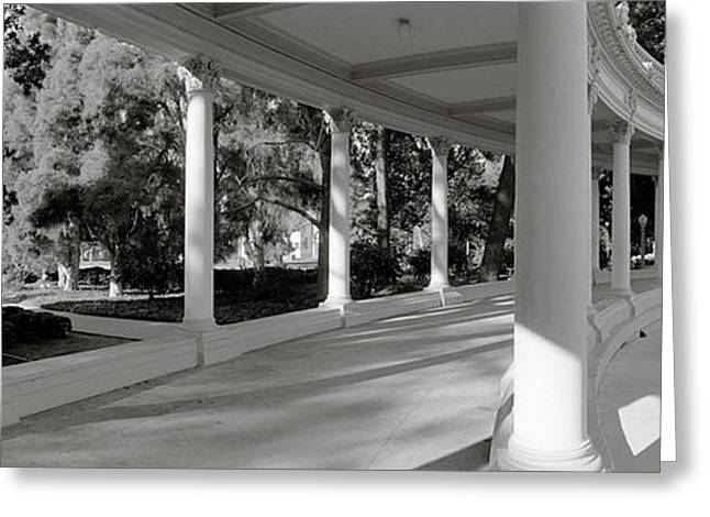Pavilion In A Park, Balboa Park, San Greeting Card by Panoramic Images