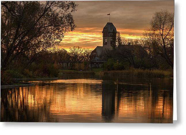 Pavilion Sunrise Greeting Card by Stuart Deacon