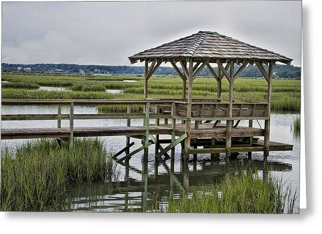 Pawleys Creek Dock Greeting Card