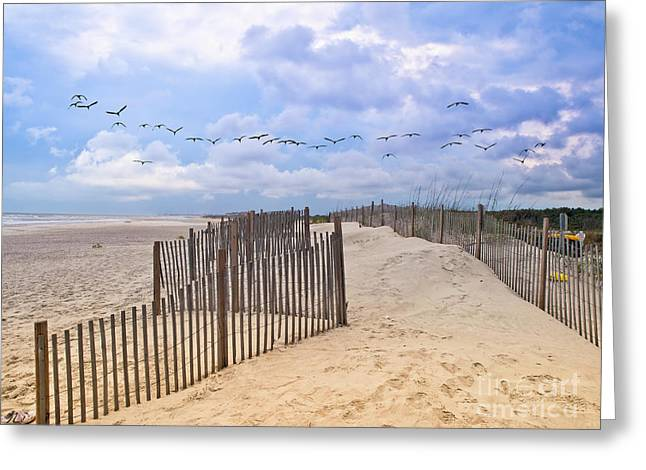 Pawleys Island Beach Scene Greeting Card
