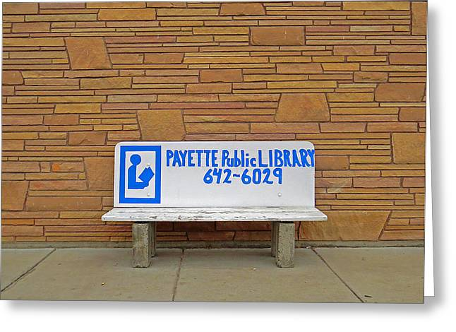 Payette Library Bench Greeting Card
