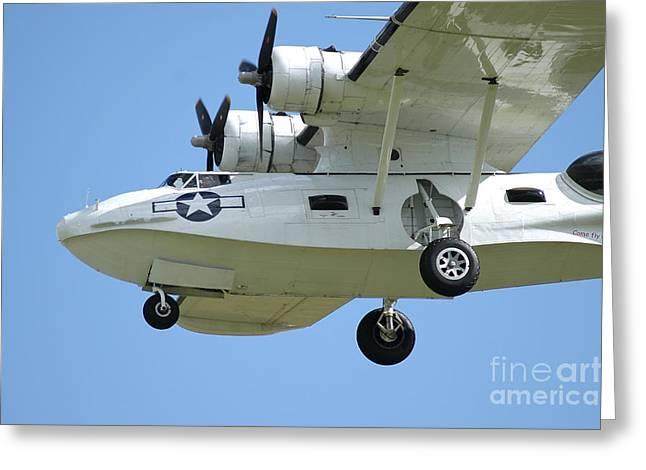 Pby Catalina Seaplane In World War II Greeting Card by Riccardo Niccoli