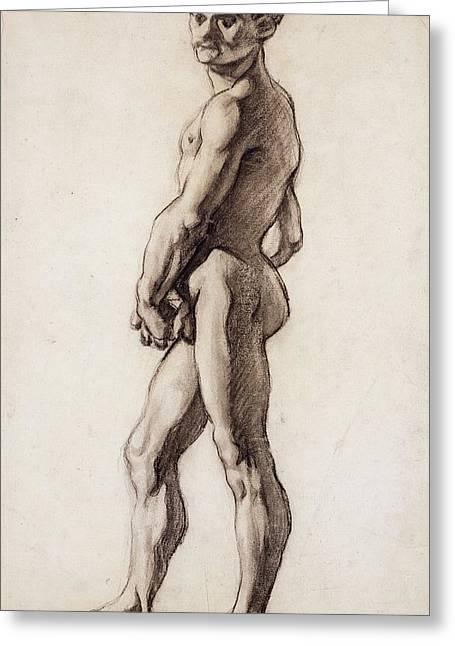 Male Nude Greeting Card