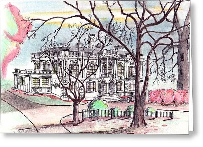 Peabody Library Greeting Card by Paul Meinerth
