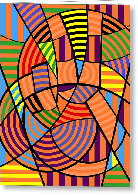 Greeting Card featuring the digital art Peace 9 Of 12 by Randall Henrie
