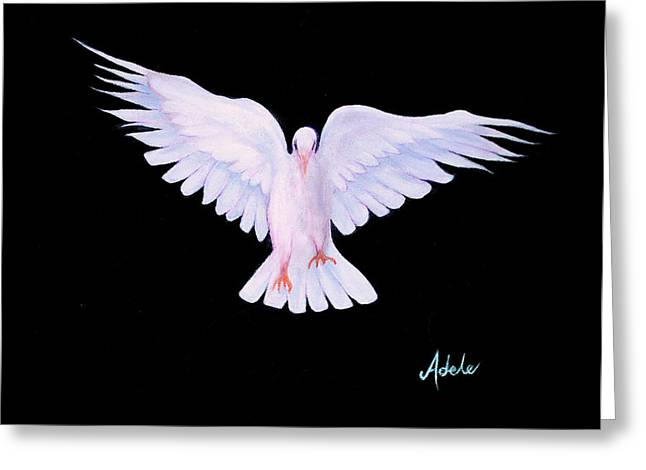 Peace Greeting Card by Adele Moscaritolo