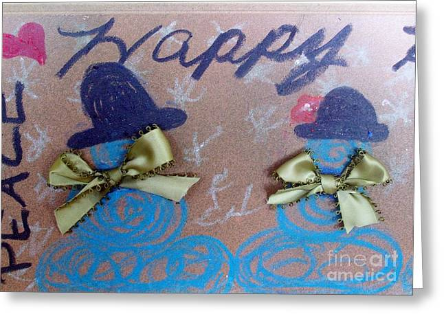 Peace And Happiness Greeting Card by Jackie Bodnar