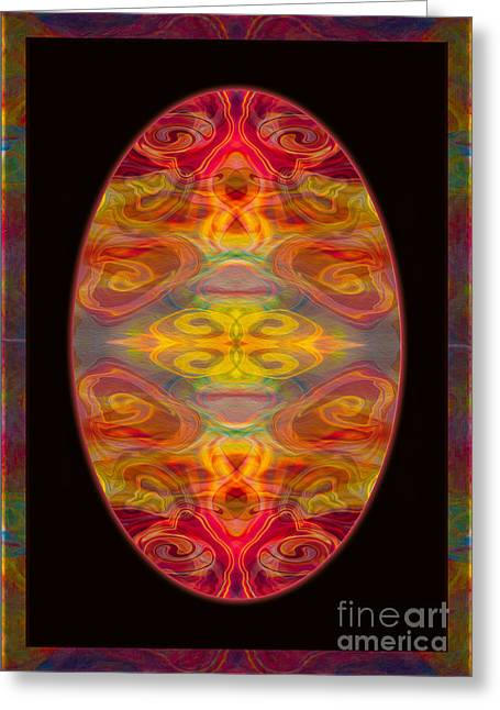 Peace And Harmony Abstract Healing Art Greeting Card