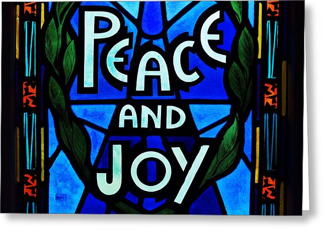 Peace And Joy Greeting Card by Zinvolle Art