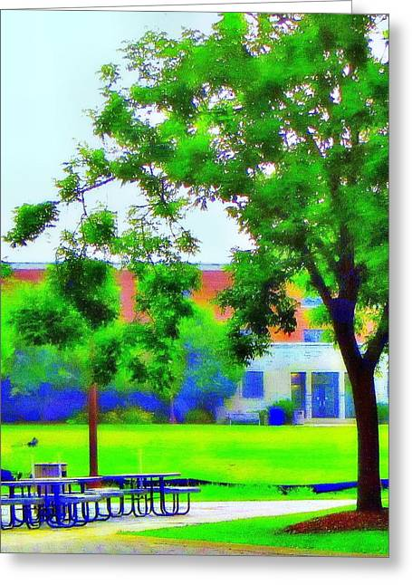 Peace And Lunch Greeting Card by Luis A Vera