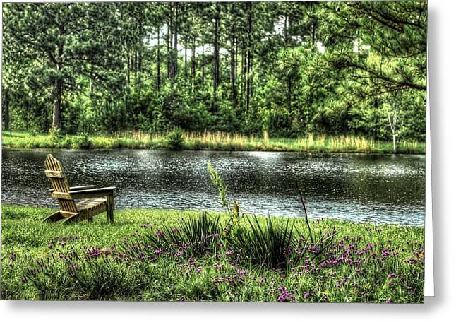 Peace At The Pond Greeting Card by EG Kight