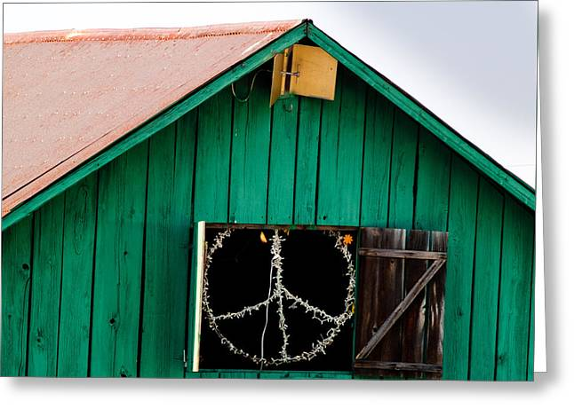Peace Barn Greeting Card by Bill Gallagher