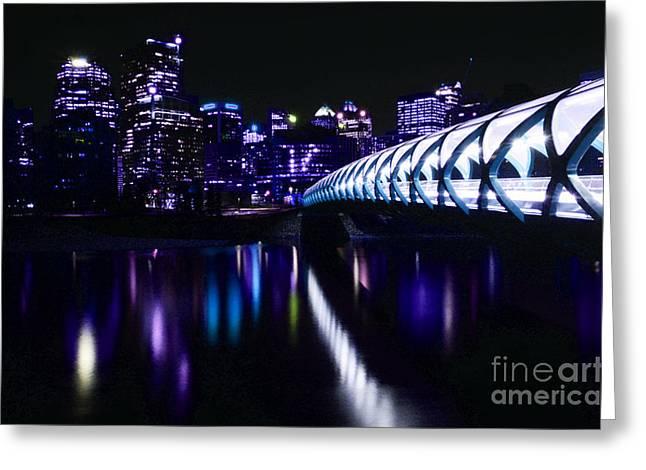 Peace Bridge Feeling The Blues Greeting Card by Bob Christopher
