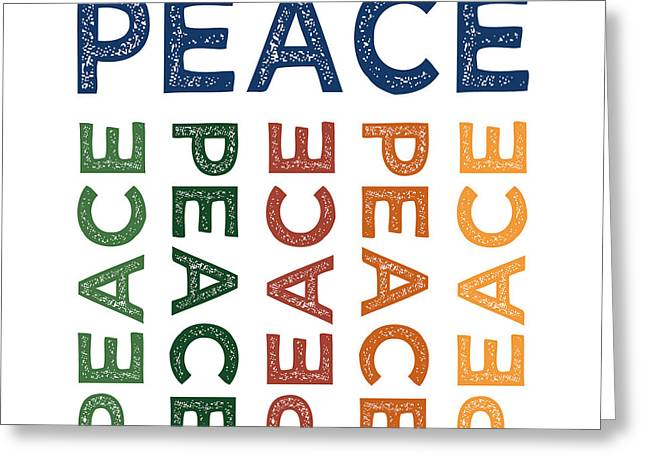 Peace Cute Colorful Greeting Card by Flo Karp