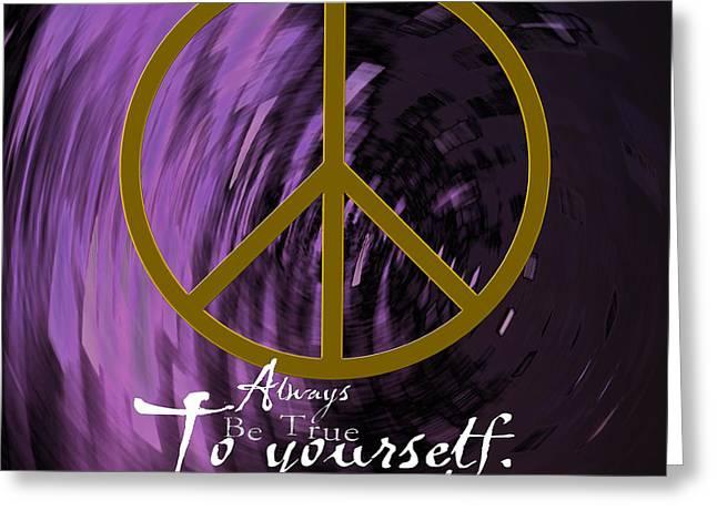 Peace Greeting Card by Daryl Macintyre