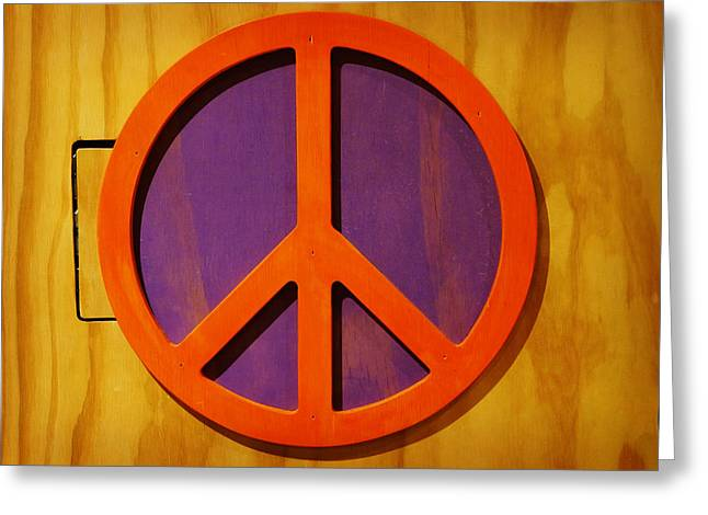 Peace Decal Greeting Card