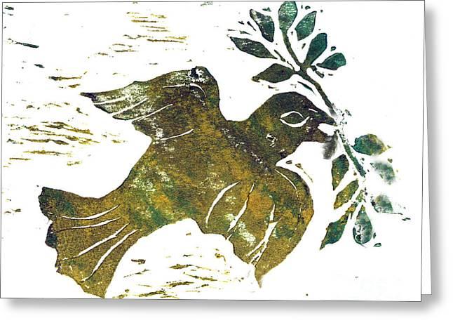 Peace Dove Greeting Card by Ellen Miffitt