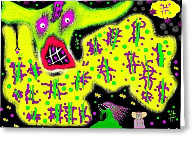 Peace Dragon Greeting Card by Pepita Selles