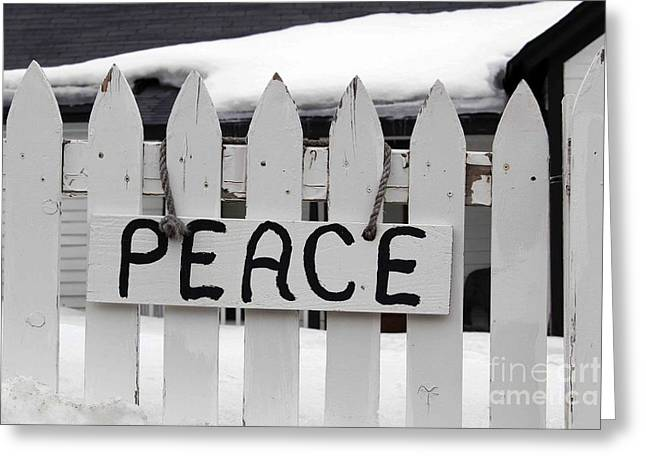 Greeting Card featuring the photograph Peace by Fiona Kennard