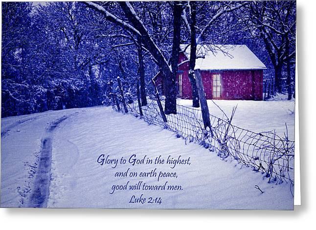 Peace Good Will Toward Men Greeting Card