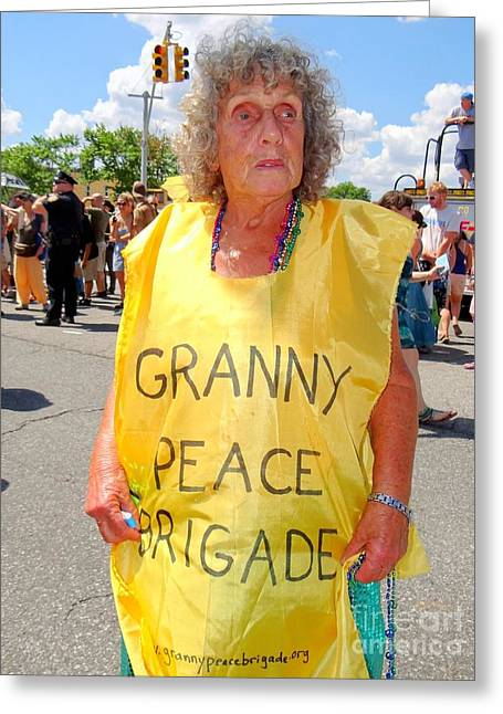 Greeting Card featuring the photograph Peace Granny by Ed Weidman