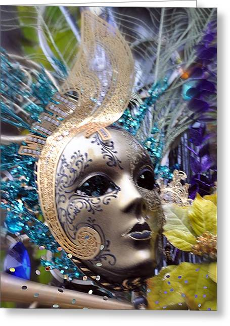 Greeting Card featuring the photograph Peace In The Mask by Amanda Eberly-Kudamik