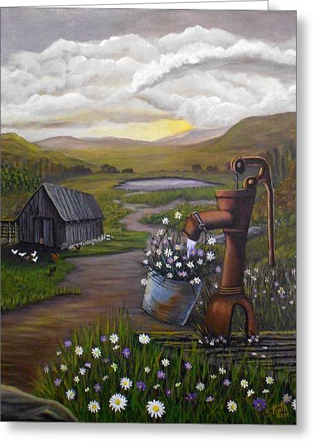 Peace In The Valley Greeting Card by Sheri Keith