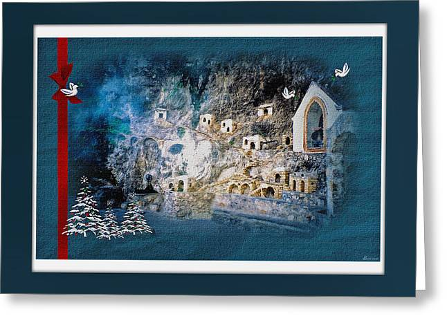 Greeting Card featuring the digital art Peace In The Village by Donna Proctor