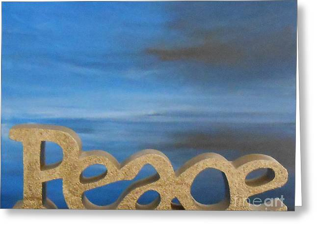 Peace - Jane See Greeting Card