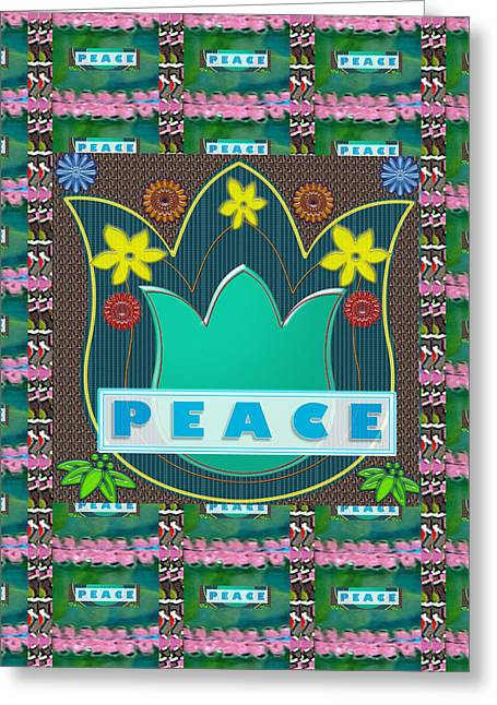 Peace Jobs Children Environment Society Country Nations World Politics Economy Brotherhood Drinking  Greeting Card by Navin Joshi
