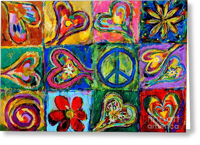 Peace Greeting Card by Kelly Athena