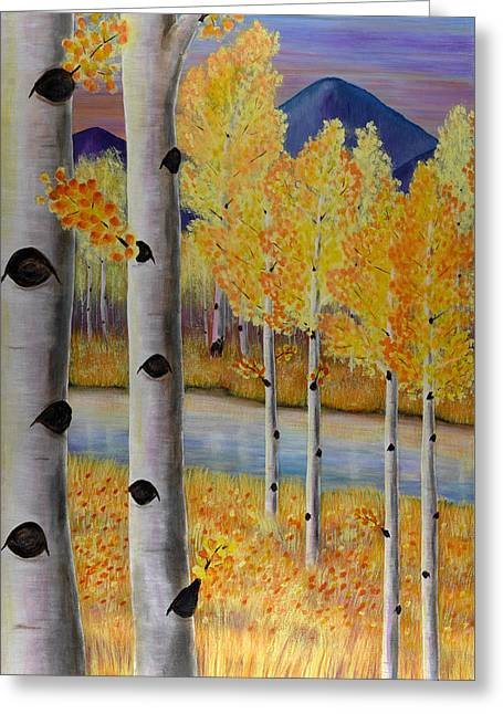 Peace Like A River I Greeting Card by Elizabeth Golden