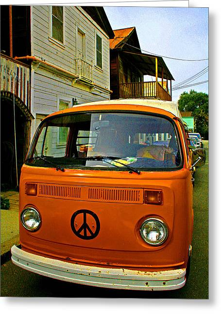 Peace Meets Locke Greeting Card by Joseph Coulombe
