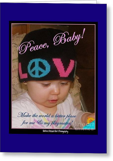 Peace N Love Baby Greeting Card
