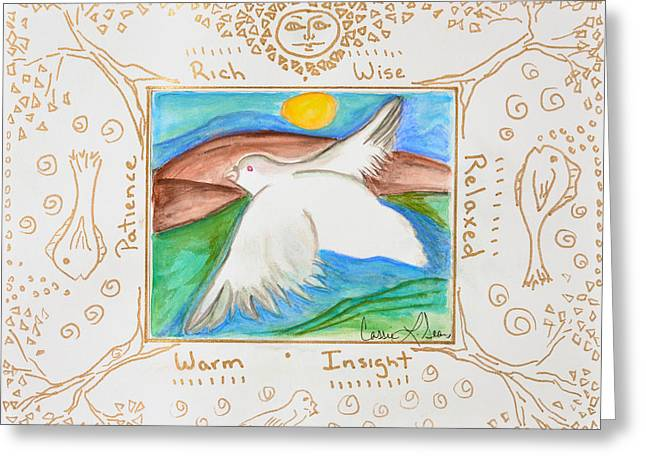 Peace Of Heaven Greeting Card by Cassie Sears